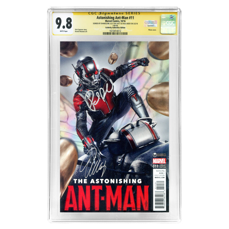 Paul Rudd and Evangeline Lilly Autographed Ant-Man #11 Celebrity Authentics Variant CGC SS 9.8