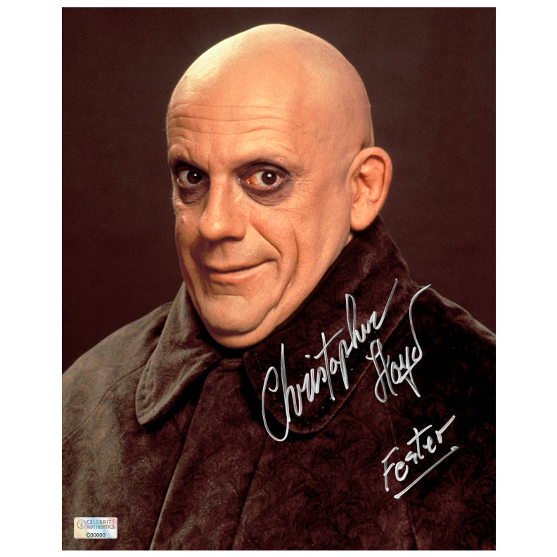 Christopher Lloyd Autographed Addams Family Uncle Fester 8x10 Photo