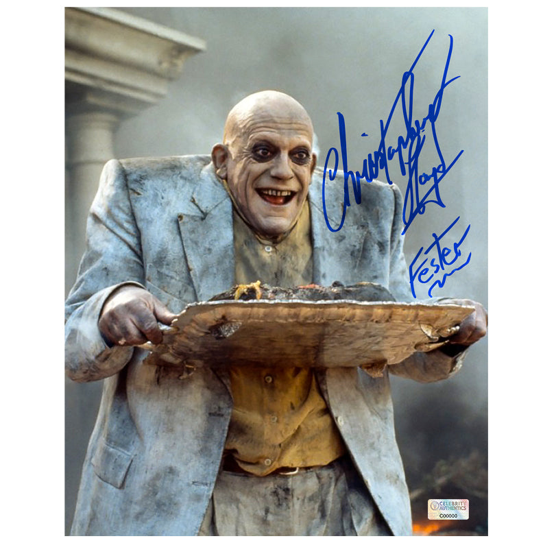 Christopher Lloyd Autographed Addams Family Uncle Fester 8x10 Scene Photo