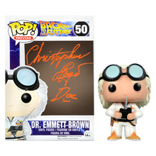 Load image into Gallery viewer, Christopher Lloyd Autographed Back to the Future Doc Emmett Brown #50 Pop! Vinyl Figure