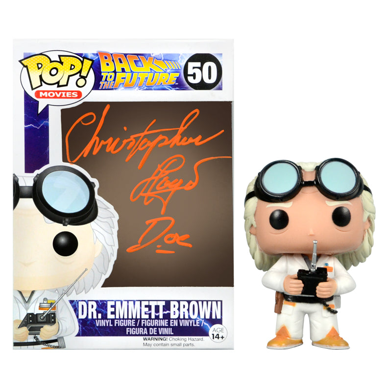 Christopher Lloyd Autographed Back to the Future Doc Emmett Brown #50 Pop! Vinyl Figure