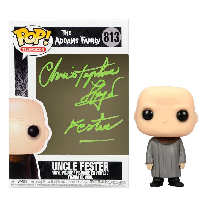 Christopher Lloyd Autographed The Addams Family Uncle Fester #813 Pop! Vinyl Figure