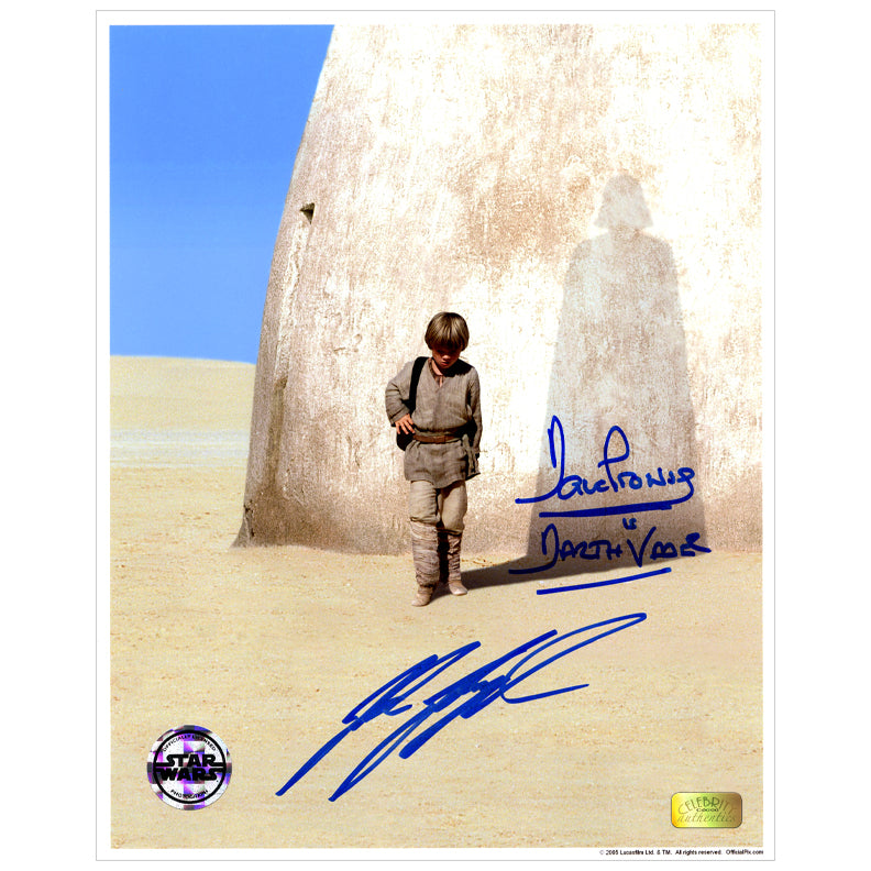 David Prowse, Jake Lloyd Autographed Star Wars The Phantom Menace Anakin 8×10 Photo