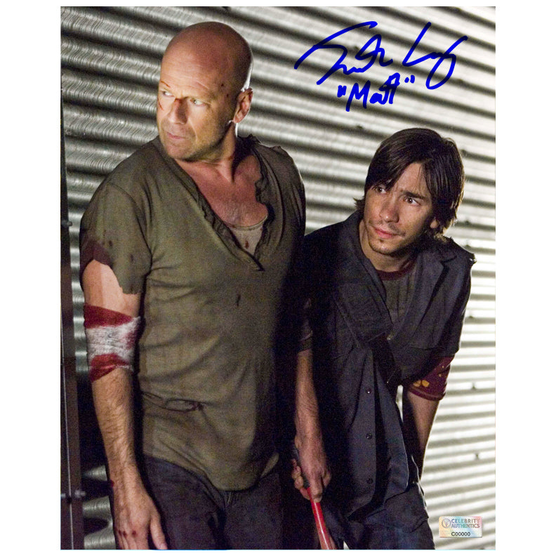 Justin Long Autographed Live Free or Die Hard 8x10 Scene Photo