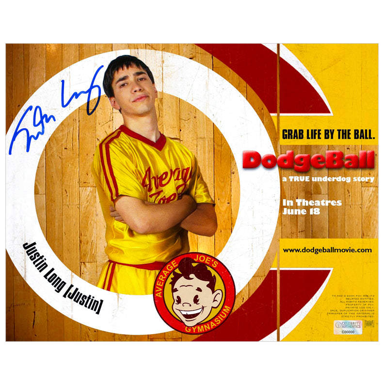 Justin Long Autographed Dodgeball: A True Underdog Story 8x10 Promo Photo