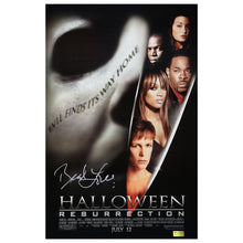 Load image into Gallery viewer, Brad Loree Autographed Halloween Resurrection 11x17 Poster