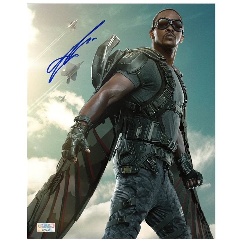 Anthony Mackie Autographed Captain America The Winter Soldier Falcon 8x10 Photo