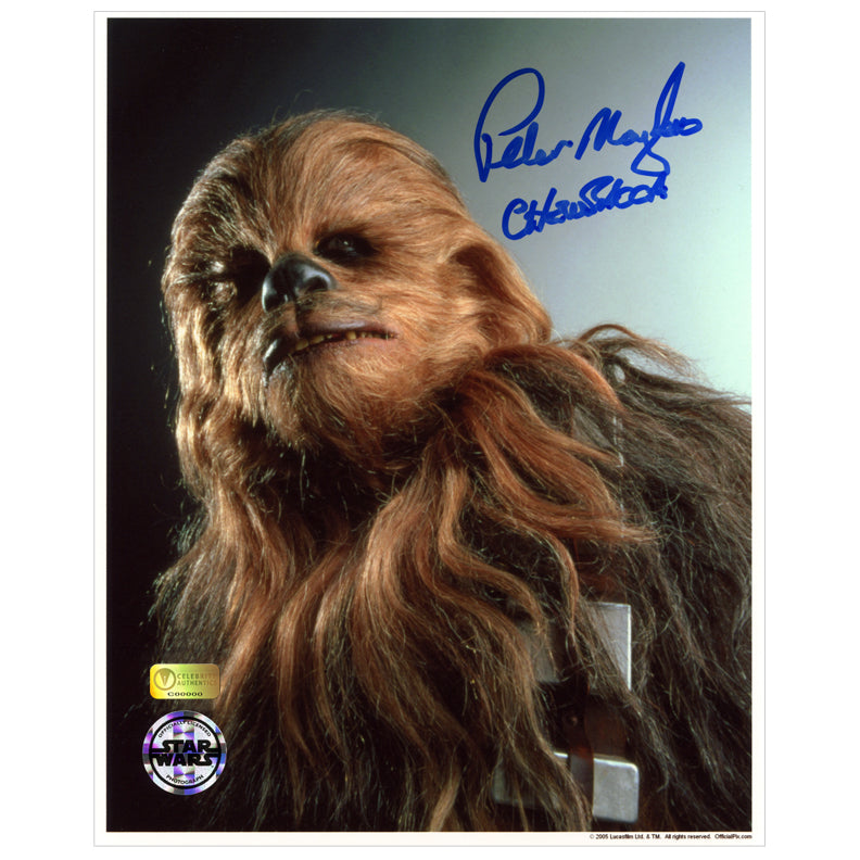 Peter Mayhew Autographed Star Wars Chewbacca 8×10 Portrait Photo