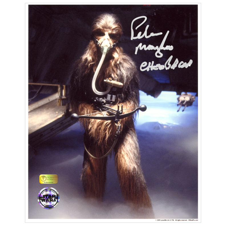 Peter Mayhew Autographed Star Wars Chewbacca Mynock Hunt 8×10 Photo