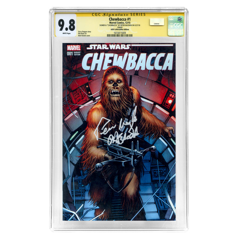 Peter Mayhew Autographed Chewbacca #1 CGC SS 9.8