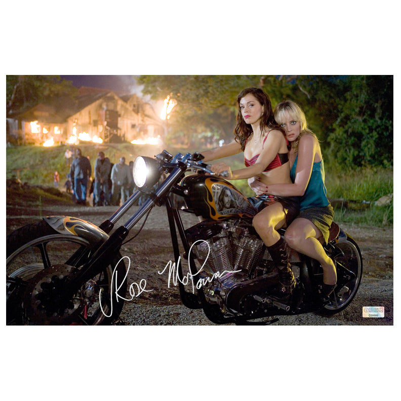 Rose McGowan Autographed Grindhouse Planet Terror Zombie Escape 11×17 Photo