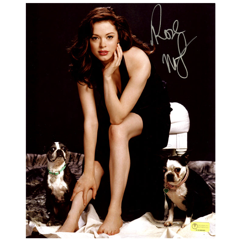 Rose McGowan Autographed Bug and Fester 8×10 Portrait Photo