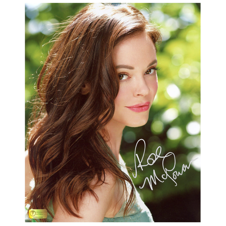 Rose McGowan Autographed Garden 8×10 Photo