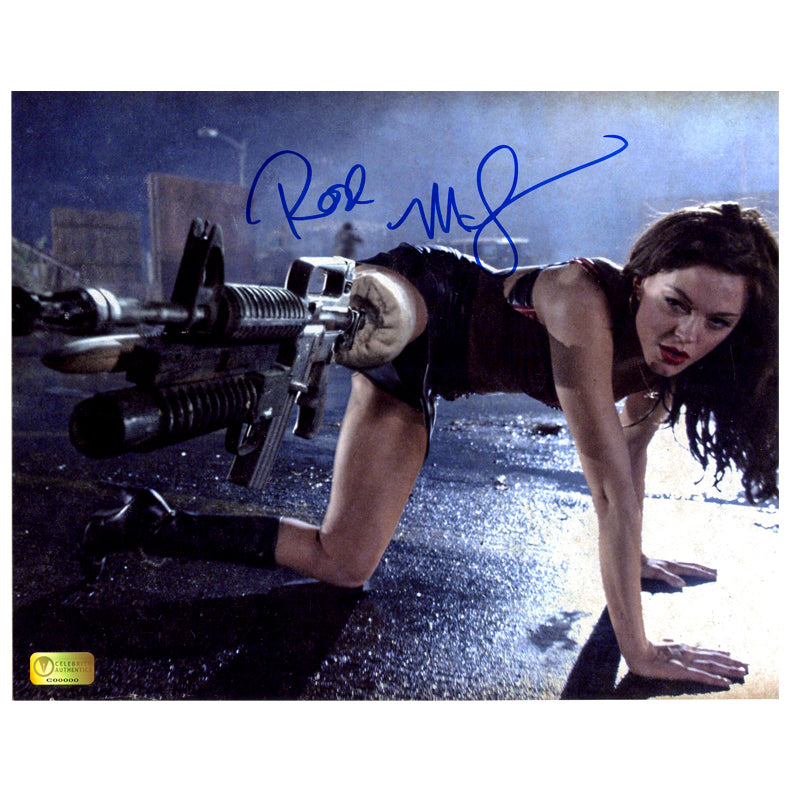 Rose McGowan Autographed Grindhouse Planet Terror Take Aim 8×10 Photo