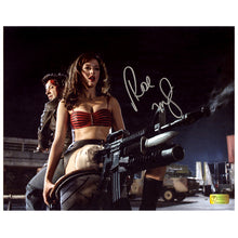 Load image into Gallery viewer, Rose McGowan Autographed Grindhouse Planet Terror Motorcycle 8×10 Scene Photo
