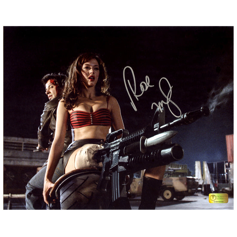 Rose McGowan Autographed Grindhouse Planet Terror Motorcycle 8×10 Scene Photo