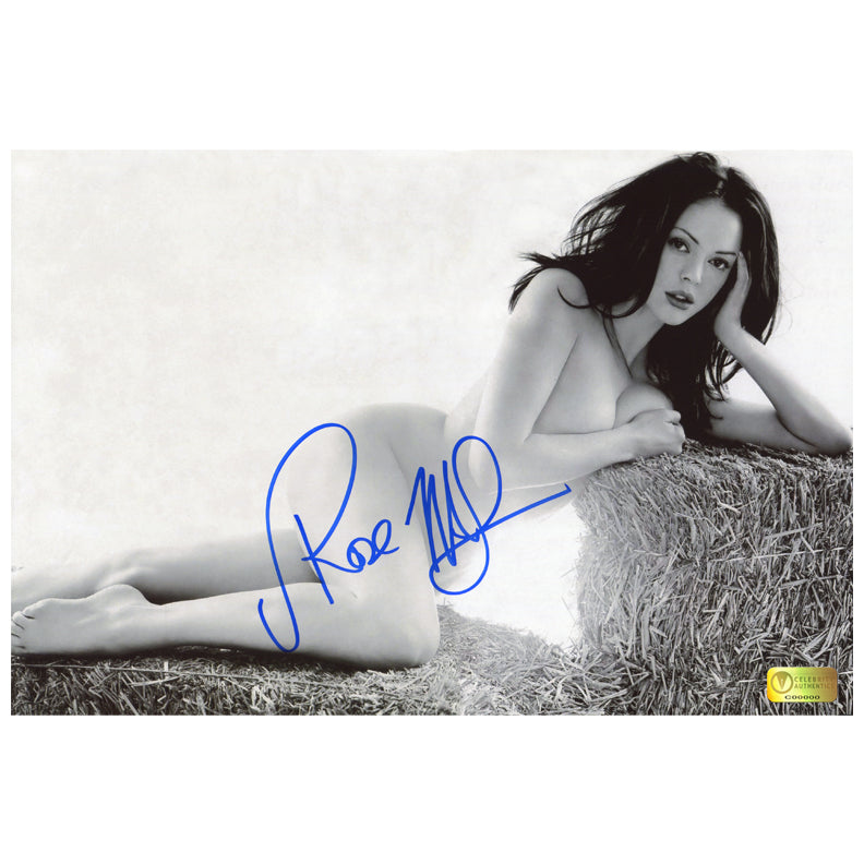 Rose McGowan Autographed Sexy Haystack 8×12 Photo