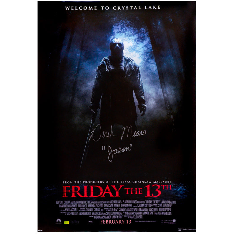 Derek Mears Autographed Friday the 13th 27x39 Single-Sided Movie Poster