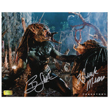 Load image into Gallery viewer, Derek Mears and Brian Steele Autographed Predators Battle 8x10 Photo