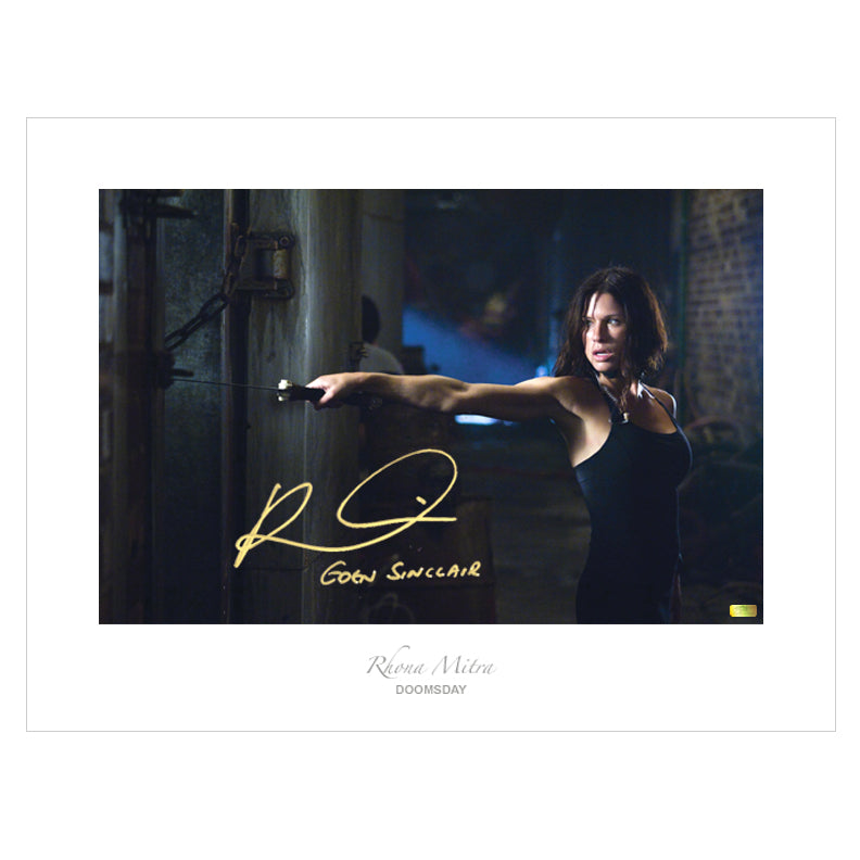 Rhona Mitra Autographed Doomsday 17x22 Fine Art Photo
