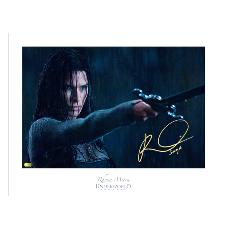 Rhona Mitra Autographed Underworld Rise of the Lycans 17x22 Fine Art Photo