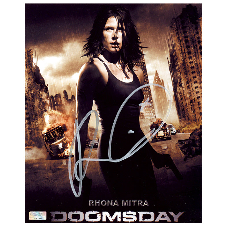 Rhona Mitra Autographed Doomsday Advance 8x10 Photo