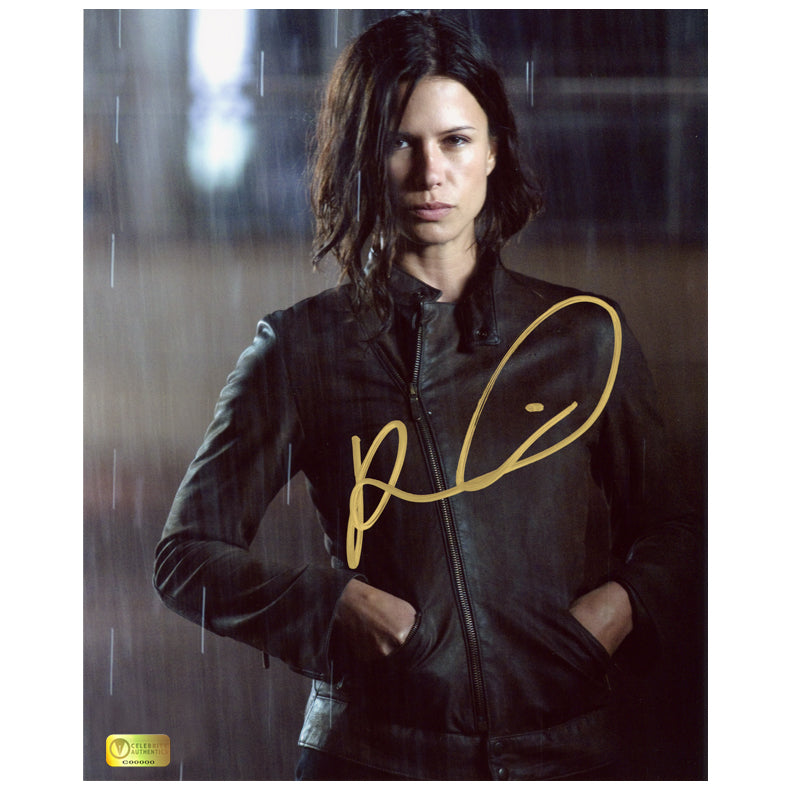 Rhona Mitra Autographed Doomsday Rain 8x10 Photo