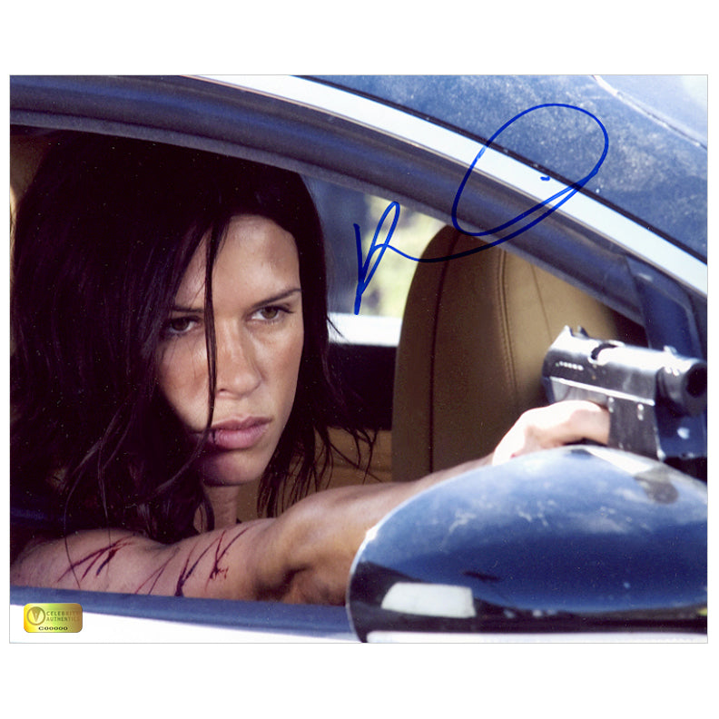 Rhona Mitra Autographed Doomsday Gun 8x10 Photo