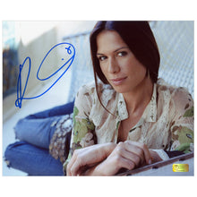 Load image into Gallery viewer, Rhona Mitra Autographed Hammock 8x10 Photo