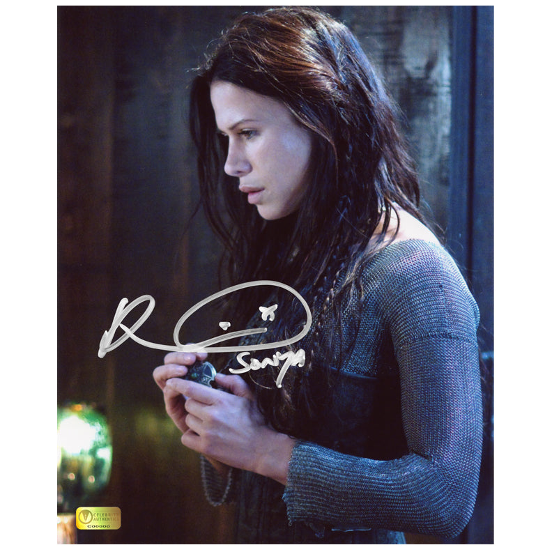 Rhona Mitra Autographed Underworld Rise of the Lycans Necklace 8x10 Photo