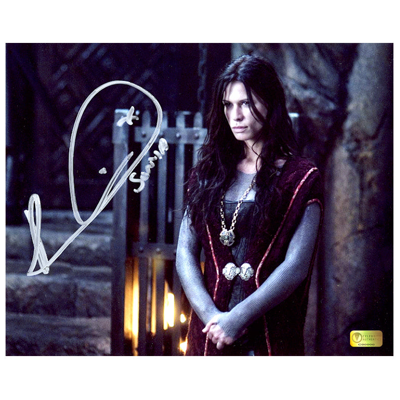 Rhona Mitra Autographed Underworld Rise of the Lycans Sentence 8x10 Photo