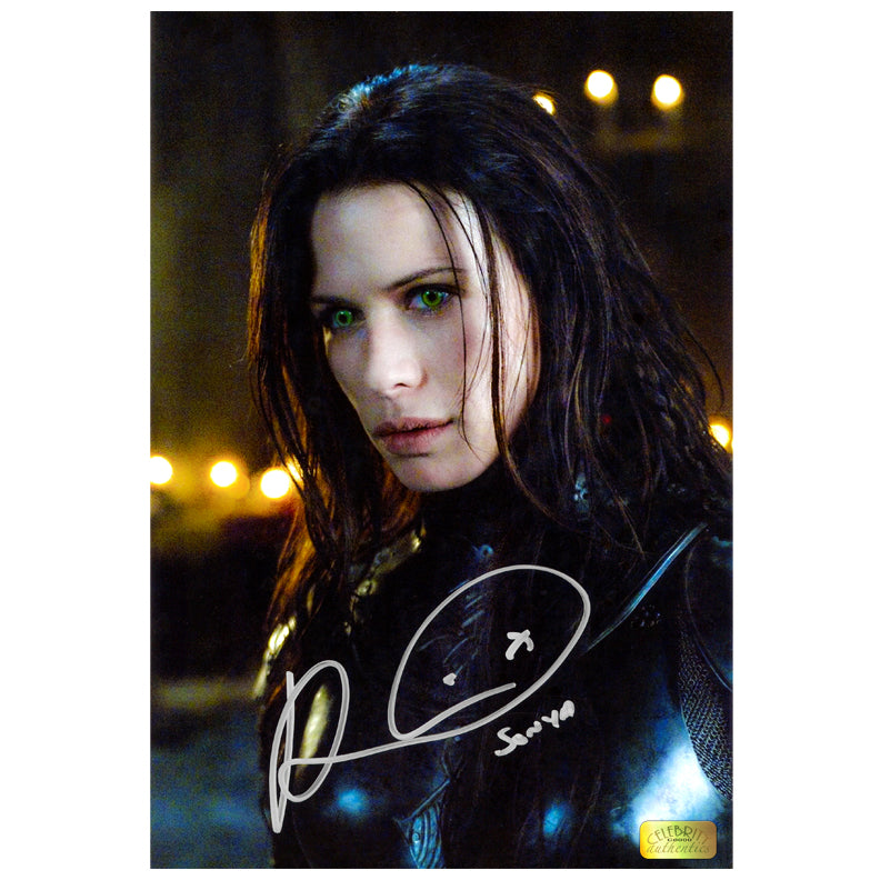 Rhona Mitra Autographed Underworld Rise of the Lycans Sonya 8×12 Photo