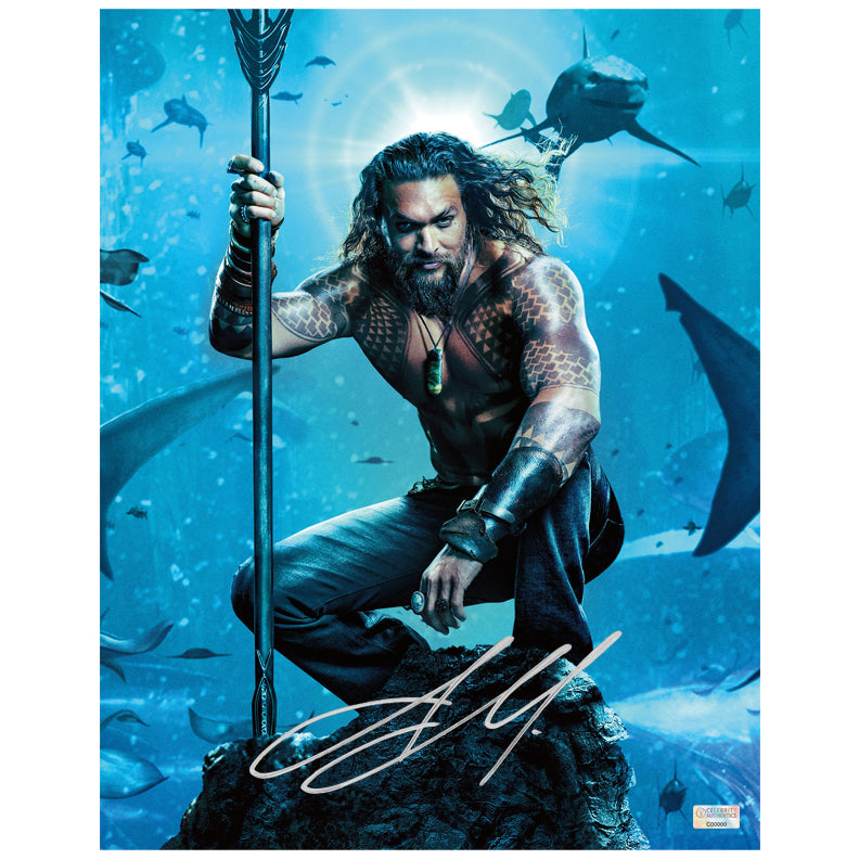Jason Momoa Autographed Aquaman 11x14 Photo