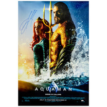 Load image into Gallery viewer, Jason Momoa Autographed 2018 Aquaman Original 27×40 Double-Sided Movie Poster