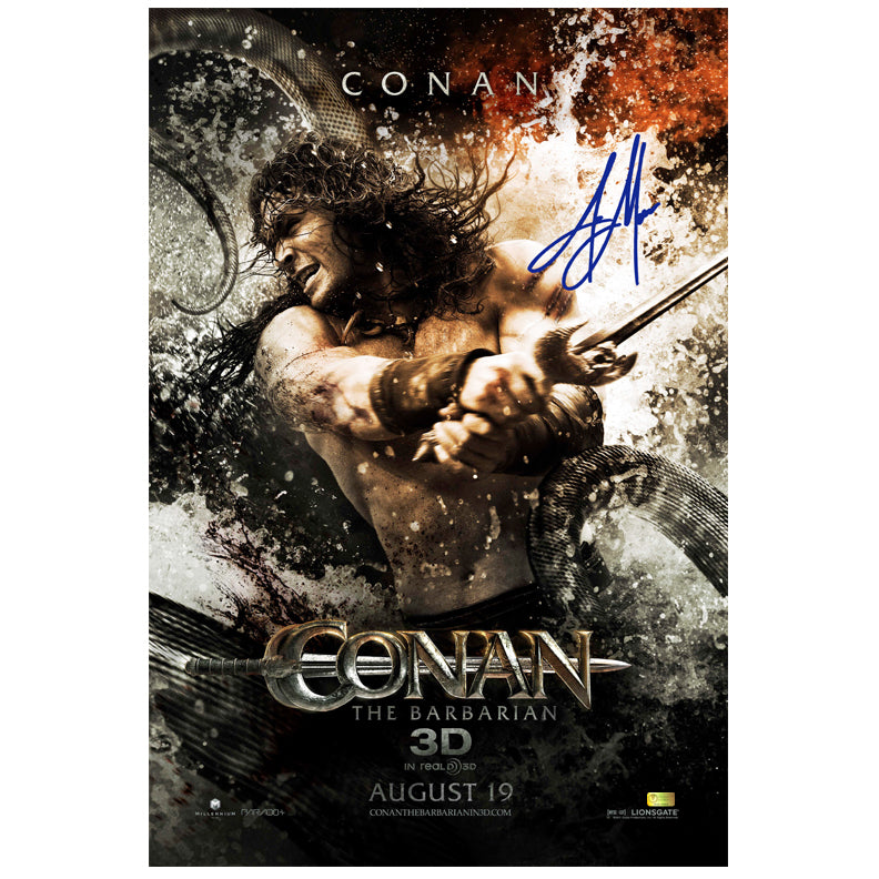 Jason Momoa Autographed Conan the Barbarian Original 27x40 Double Sided Movie Poster