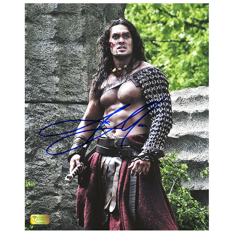 Jason Momoa Autographed Conan Battle Victory 8x10 Photo