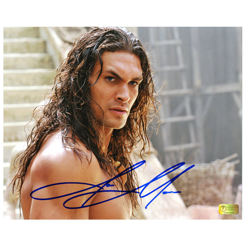 Jason Momoa Autographed Conan the Barbarian 8x10 Close Up Photo