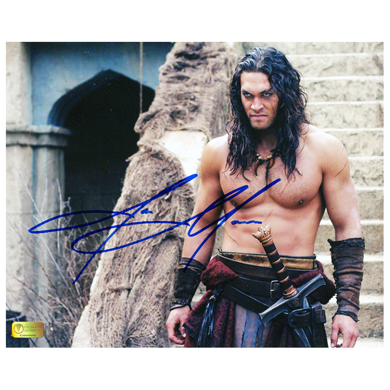 Jason Momoa Autographed Conan the Barbarian Revenge 8x10 Photo