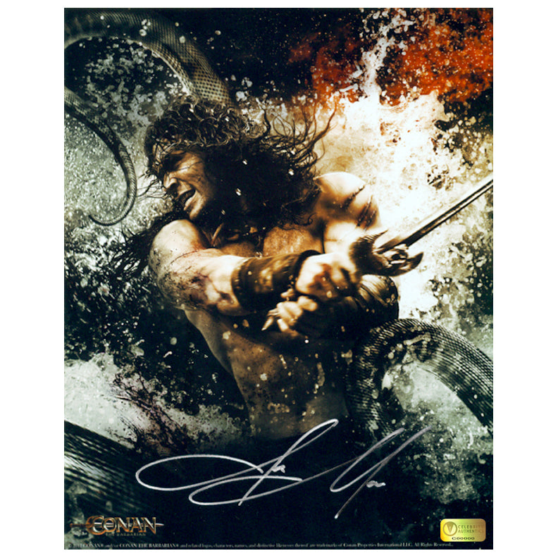 Jason Momoa Autographed Conan Sea Battle 8x10 Photo