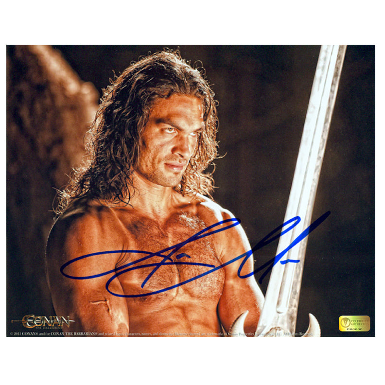 Jason Momoa Autographed Conan the Barbarian Vengeance 8x10 Photo