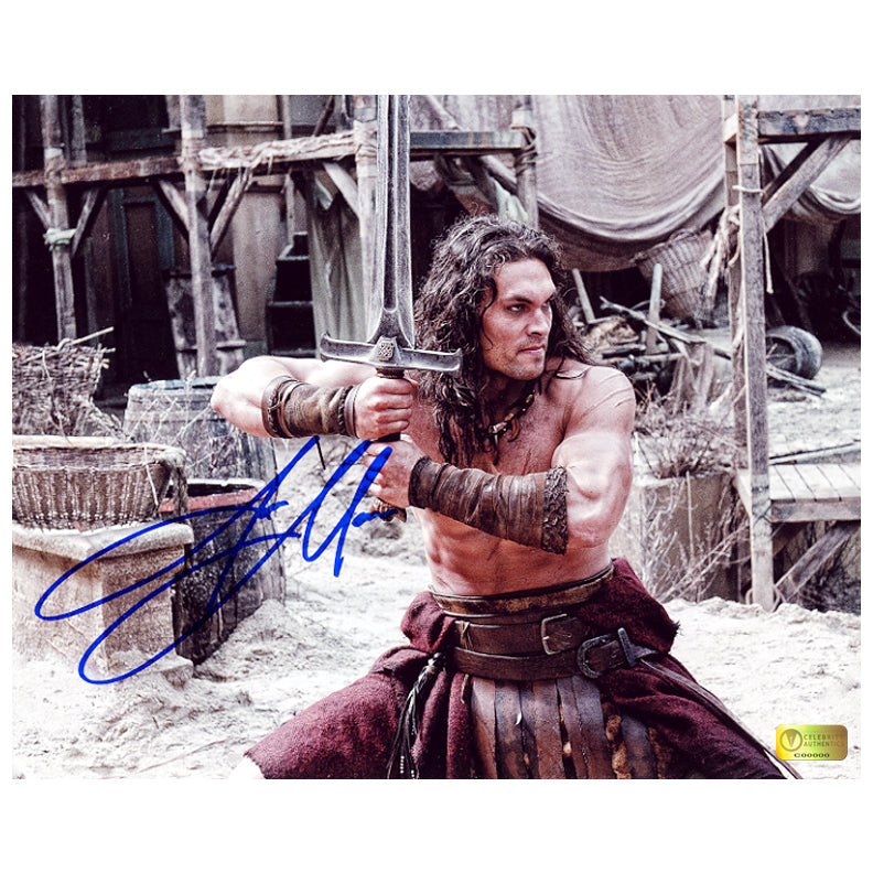 Jason Momoa Autographed Conan the Barbarian Cimmerian Warrior 8x10 Photo