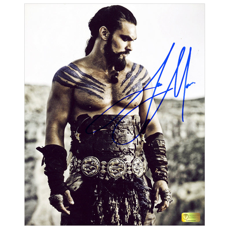 Jason Momoa Autographed Game of Thrones Khal Drogo Dothraki Warrior 8x10 Photo