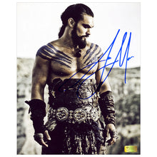 Load image into Gallery viewer, Jason Momoa Autographed Game of Thrones Khal Drogo Dothraki Warrior 8x10 Photo