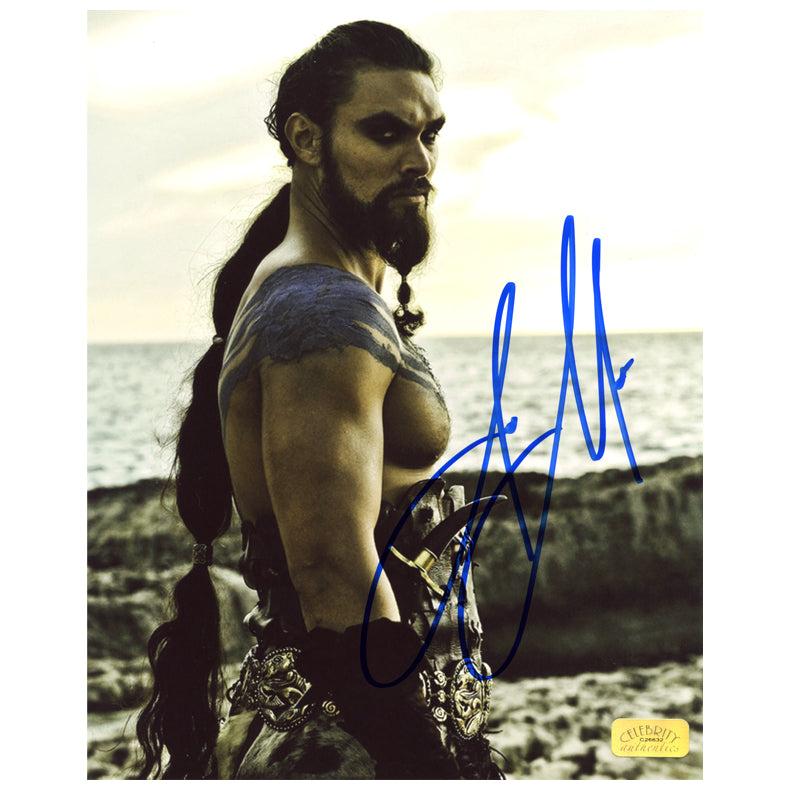 Jason Momoa Autographed Game of Thrones Warrior King 8x10 Photo