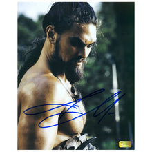 Load image into Gallery viewer, Jason Momoa Autographed Game of Thrones Khal Drogo 8x10 Photo