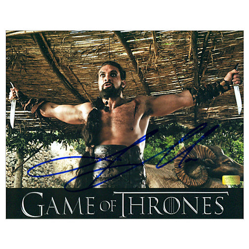 Jason Momoa Autographed Game of Thrones Kahl Drogo Blades 8x10 Photo