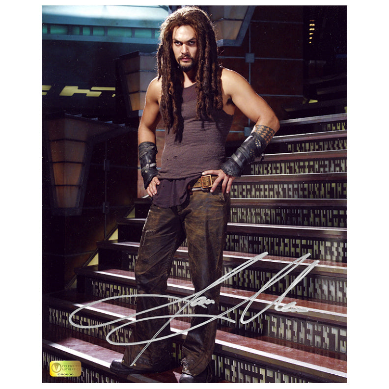 Jason Momoa Autographed Stargate Atlantis Ronon 8x10 Photo