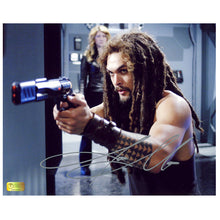 Load image into Gallery viewer, Jason Momoa Autographed Stargate Atlantis 8x10 Action Photo