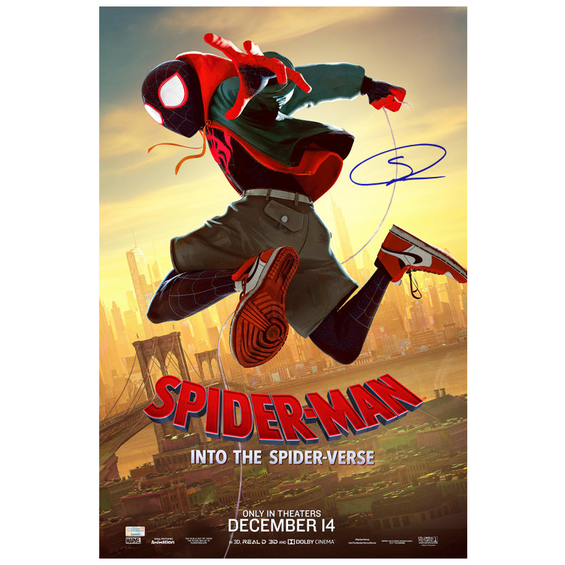 Shameik Moore Autographed Spider-Man Into The Spider-Verse 16×24 Poster