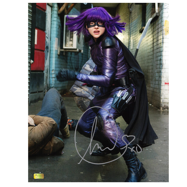 Chloe Grace Moretz Autographed Kick-Ass 2 Hit-Girl Alley Fight 11x14 Photo